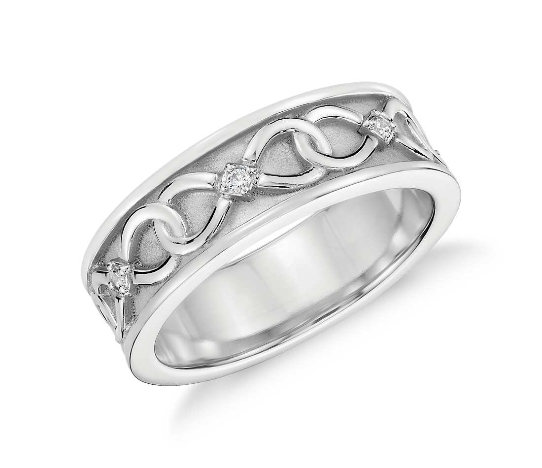 silver bands jewelry bling band infinity ring mdr baguette cut sterling wedding cz diamond eternity